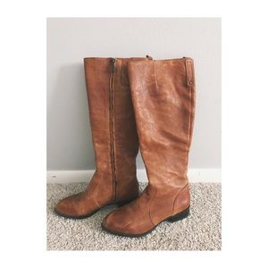 Nine West Nicolah Leather Riding Boots